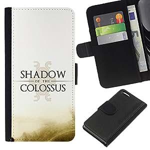 Protector de cuero de la PU de la cubierta del estilo de la carpeta del tirón BY RAYDREAMMM - Apple Iphone 5C - Shadow Of The C0Lossus