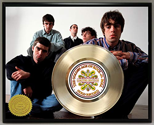 G.A.R.R. Oasis Gold Record Poster Art Limited Edition Commemorative Music Memorabilia Display Plaque