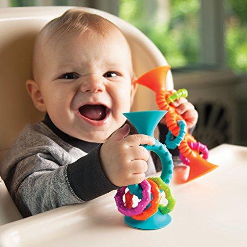 Fat Brain Toys Sonajero squigs Loops 15/cm Naranja