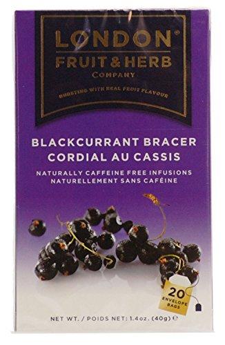 London Fruit & Herb Co Blackcurrant Bracer Fruit Tea 20 Bags (Pack of 4)