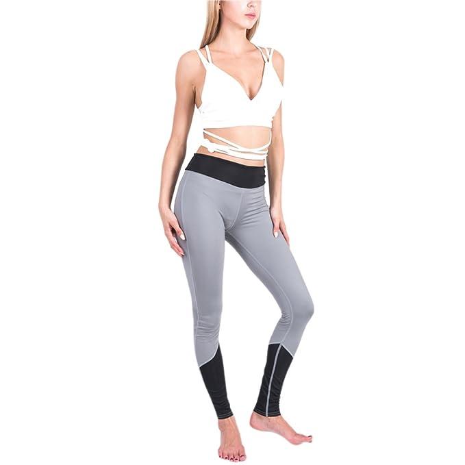 descuento mejor valorado bebé varios colores BOZEVON Mujer Empalme Leggins Deportivos Yoga Jogging ...