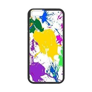iPhone 6 Plus Case paint splatter, Cheap Cute Splatter Sexyass, {Black}