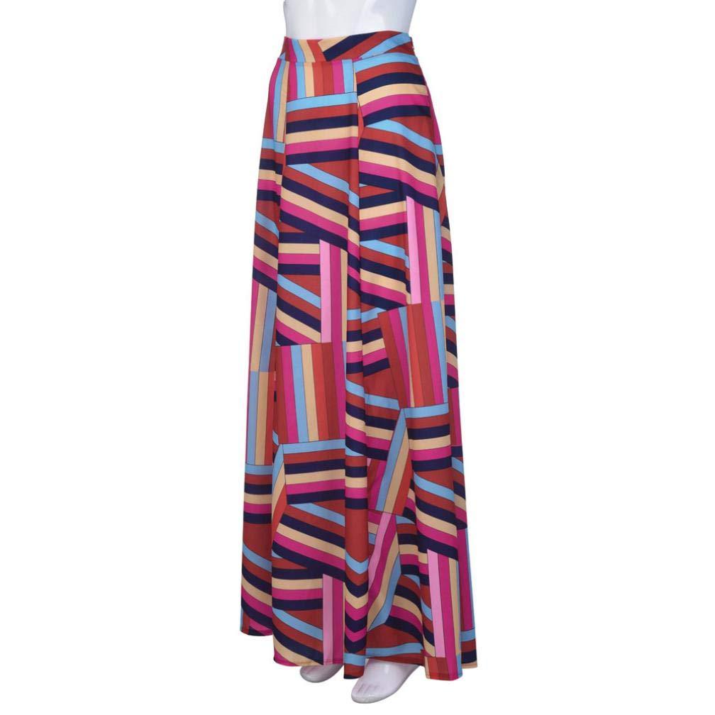YUAFOAE Vestidos Largos De Mujer Elegantes,Color de Hechizo Moda Casuales Fiesta Falda: Amazon.es: Ropa y accesorios