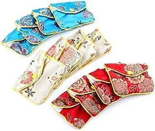 NUOLUX Sacchetto di gioielli, 12pcs borsa di seta sacchetto regalo borse borsa ricamo gioielli sacchetto della moneta