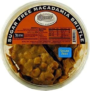 Judy's Candy Co. Sugar Free Macadamia Brittle 10 oz. Tub