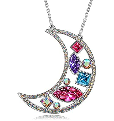 Kate Lynn Women Rhodium Plated Crystal from Swarovski Happy Cube Necklace Nickel Free Passed SGS test 8Ulrwi