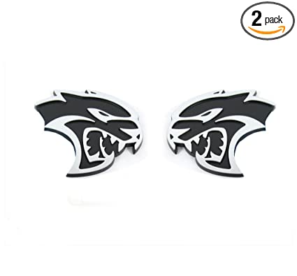 Amazon Com Qukparts 2pcs Oem Hellcat Side Emblem Badge Left Right