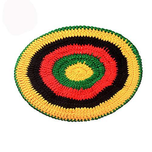 Novelty Knitted Wig Braid Hat Bob Marley Rasta Beanie Male Jamaican Multicolor Headwear Tassel