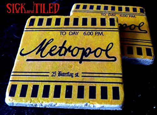 CLEARANCE Argento's DEMONS Inspired Metropol Ticket Coaster Set Of 2 Dario Argento