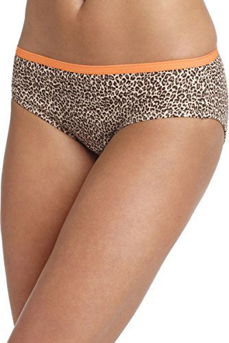Hanes Women's No Ride Up Cotton Hipster Panties 6-Pack_2 Prints/2 Solids/2 Wht_8