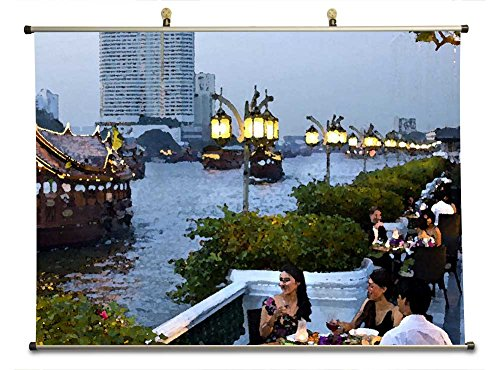mandarin-oriental-bangkok-canvas-wall-scroll-poster-watercolor-style-32x24-inches