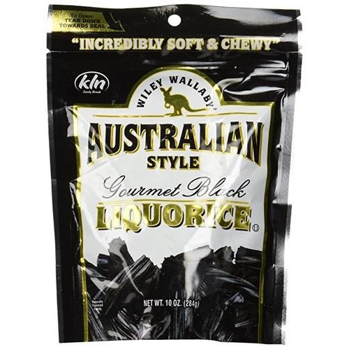 Wiley Wallaby Gourmet Australian Style Liquorice Gourmet Black Liquorice, 10-Ounce (Pack of (Style Black Licorice)