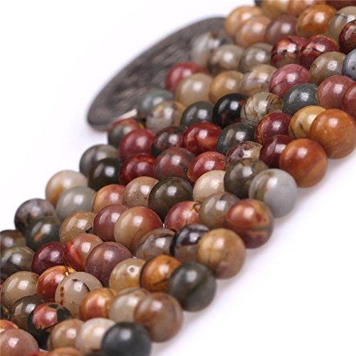4mm Picasso Jasper Beads for Jewelry Making Natural Semi Precious Gemstone Round Strand 15