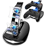SUNKY LED USB Dual Game Controller Charger Dock Station for Xbox One - Black