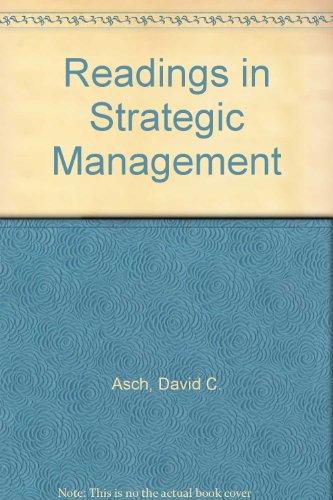 Readings in Strategic Management
