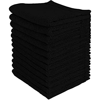 utopia towels luxury cotton washcloth towel set 12 pack black 12x12 inches