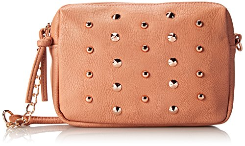 Body Cross Stud (Wild Pair Pyramid Studs Cross Body Handbag, Blush, One Size)