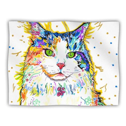 Kess InHouse Rebecca Fischer Royal Rainbow Cat Pet Dog Blanket, 60 by 50-Inch