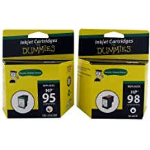 Ink For Dummies - HP 95/98 Black & Tri-color Combo Inkjet Cartridge (Remanufactured)