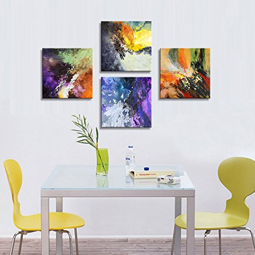 Sunrise Art-Canvas Prints Original Colorful Abstract Painting on Canvas Modern Abstract Cosmos Canvas Art for Living Room by SUNRISE ART (Image #10)