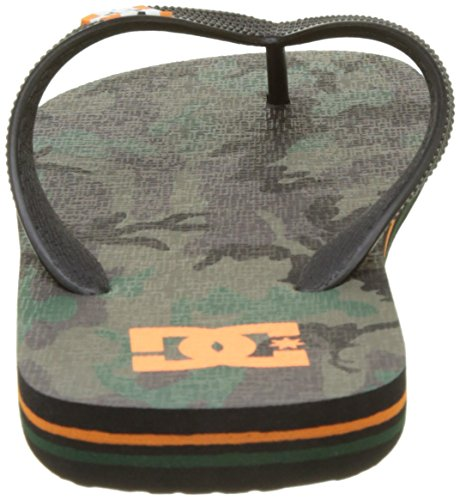 DC Shoes Herren Spray Graffik Zehentrenner Vert (Orange/Camo)