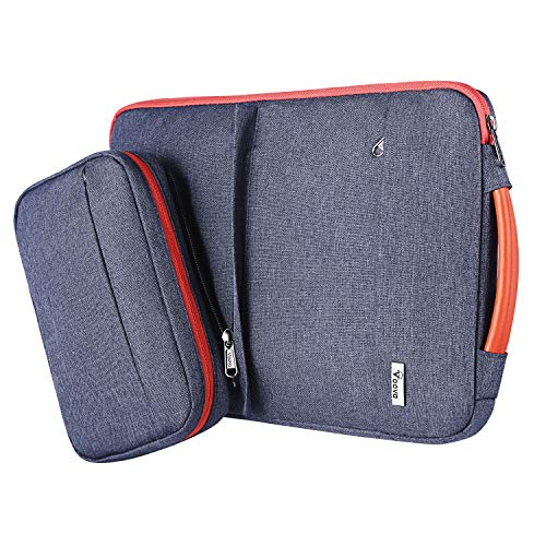 Voova 14-15.6 Inch Laptop Sleeve Case, Special Design Waterproof Computer Cover Bag with Detachable Small Pouch Compatible with MacBook Pro 16 2019, 15 Inch MacBook Pro, Chromebook, Dark Gray