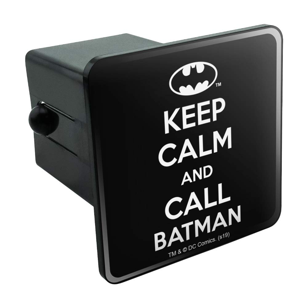 Batman Keep Calm and Call Tow Trailer Hitch Cover Plug Insert by Graphics and More