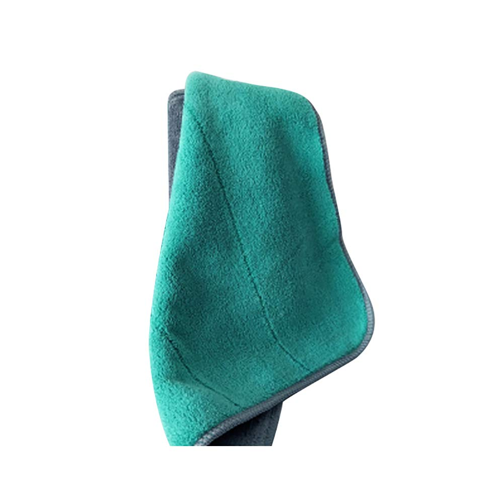 Yamalans Double Side Hand Towel Hanging Kitchen Bathroom Dish Cleaning Drying Washcloth Green 20cm x 30cm