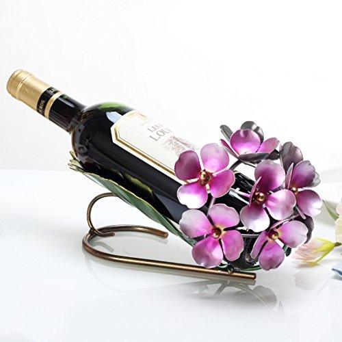 CJH European Creative Wine Rack Ornaments Orchid Wine Bottle Rack Wine Cabinet Decorations Ornaments