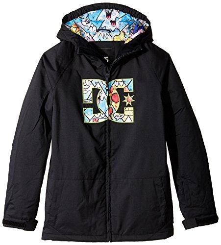 DC Big Boys' Story Boy Snow Jacket, Anthracite, 12/Medium Dc Snow Jackets