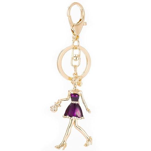Amazon.com  Women Keychain Cute Ballerina Dancer Key Ring with Pouch ... 26e2fb5d1d