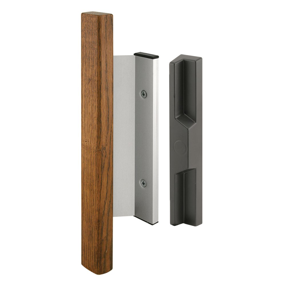 Prime-Line Products C 1019 Sliding Door Handle Set, Heavy Duty Wood Handle, Aluminum