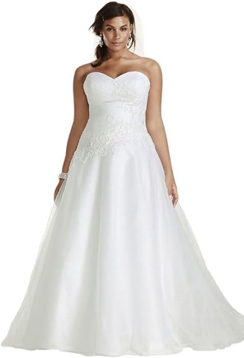 Tulle Plus Size Wedding Dress Lace Applique Style 9WG3740 ...