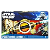 Star Wars The Clone Wars General Grievous Spinning Electronic Lightsaber (with lights & sounds)