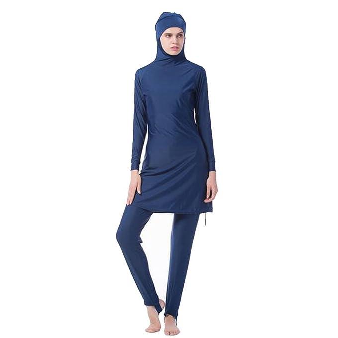9b9ced78015766 Meijunter Middle East Musulmano Modesto Copertura Completa Protezione  Solare 2-Pezzi Costume da Bagno Bathing Suit Islamico Arabo Malaysia Hijab  Swimwear ...