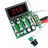 uniquegoods 12V 24V 36V 48V 60V 80V DC 30A PWM Variable Speed Regulator DC Motor Speed Controller Stepless Speed Control Switch HHO Driver Module With Digital LED Display(Board without shell cover)