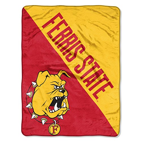 The Northwest Company Officially Licensed NCAA Ferris State Halftone Micro Raschel Throw Blanket, 46