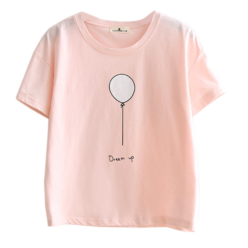 Women Summer Harajuku Fashion Kawaii Women Shirt Pink Spell Love T Shirt