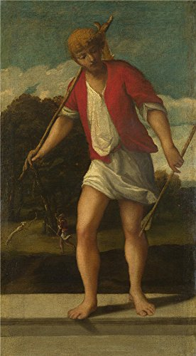 [Oil Painting 'Studio Of Bonifazio Di Pitati-A Huntsman,16th Century', 18 x 33 inch / 46 x 83 cm , on High Definition HD canvas prints is for Gifts And Bath Room, Laundry Room And Study Room Decoration] (Glam Belted Belt)