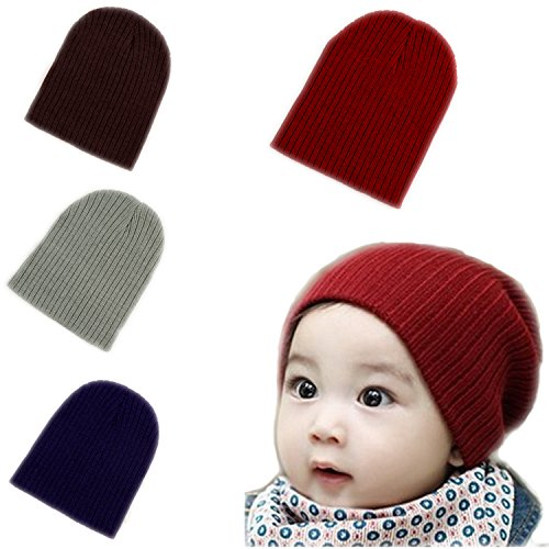 BOMPOW Baby Beanie Hat Cute Cozy Cotton Winter Hat Infant Toddler Baby Beanies for Boys Girls