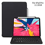 iPad Pro 12.9 Keyboard Case for iPad Pro 12.9 2018, Maxace iPad Pro 2018 PU Leather Tablet Case, Smart Bluetooth Wireless Keyboard Cover with Auto Sleep Wake, Supports Apple Pencil Charging