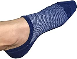 No Show Socks Men 6 Pairs Black Mens Cotton Low Cut Socks Non-Slip Grips Casual Low Cut Boat Sock Size 6-11