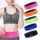 GEARWEAR Running Belt Waist Pack Bag for iPhone 8 X 7 Plus 6s Women and Men Runner Workout Belts Fanny Bag for Phone Samsung Galaxy Note s8 s7 s6 Plus for Wallking Fitness Jogging Pink
