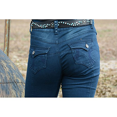 2Kgrey Riding Jean Swirl Knee Patch 28