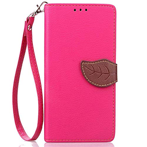 IDBI Wallet Card Holder PU Leather Pouch Flip Leaf Style Case Embossing Kickstand Credit Cards Slot Cash Pockets Cover for Lenovo A5000 Rose