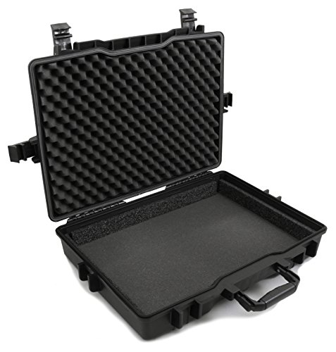 CASEMATIX 17.3'' Laptop Hard Case for Dell Alienware Laptop and Accessories Fits Alienware Area 51M AW17R4, Alienware AW15R3 and More Laptops Up to 18 Inches with Custom Foam Waterproof AIRTIGHT by CASEMATIX (Image #9)