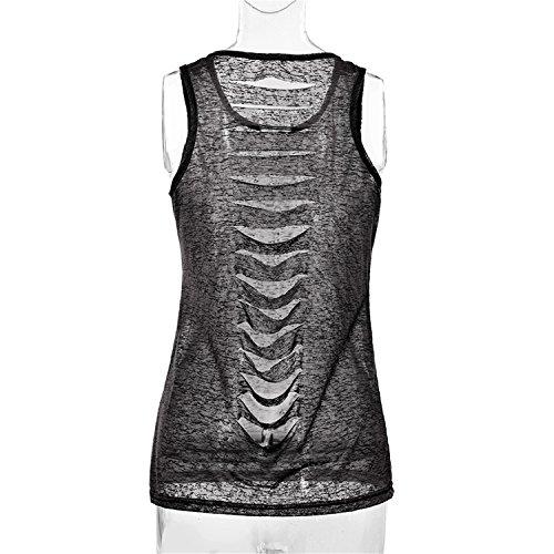 13e062b05c7 Ivan Johns Women Mesh Shirts Sexy Summer Vest Top Sleeveless Shirt Blusa  Cotton Casual Tank Tops Back Hollow Out Fitness Camiseta Black XL