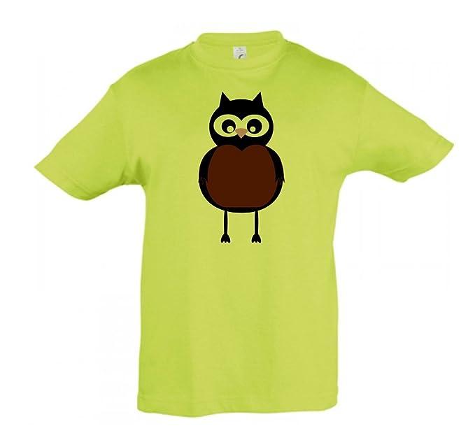 Camiseta Niños Búho para Niños y Niñas en Varios Patrones y Colores: Amazon.es: Ropa y accesorios