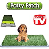 L'original Potty Patch - Litière dans gazon synthétique pour chiens - toilettes mat toilettes idéal pour les chiots - Remplace chiffons absorbants - antibactérienne et anti-odeur - Idéal pour faire pipi dans la maison de nos chiots - Pour les chiens jusqu'à 7kg - Grandes 70 x 44 x 5 cm