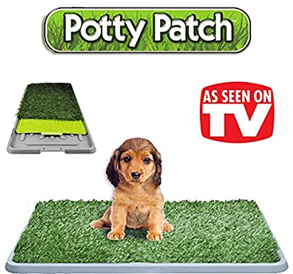 El original Potty Patch - Césped sintético en cama para perros y baños, retretes Ideal